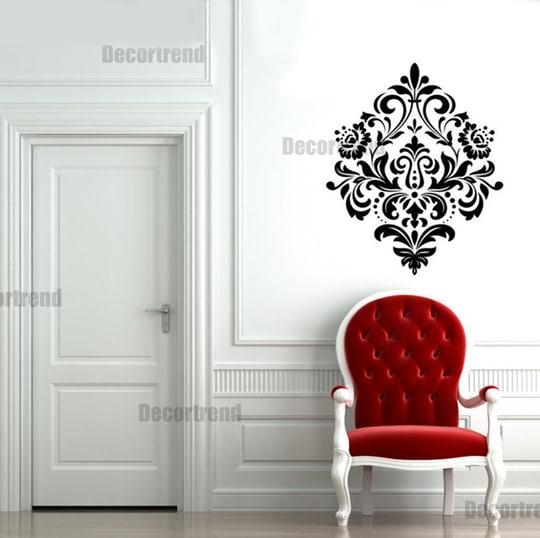 prestazioni superiori come serch forma elegante Stencil damascato