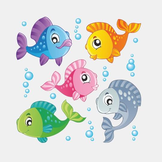 Stickers pesciolini colorati decortrend di fadr srl for Immagini pesciolini